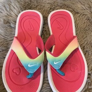 Nike Shoes - Nike Pink Blue Yellow Flip Flop Comfort Sandals